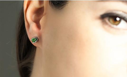 Pendientes de esmeraldas y diamantes Navas Joyeros