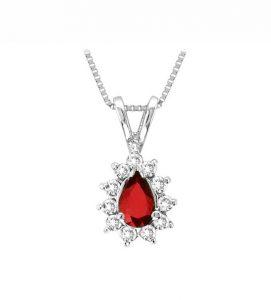 HIMALAYA, Colgante de rubí y diamantes