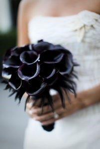 ramos de boda negro